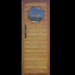 Lipové dveře s oknem